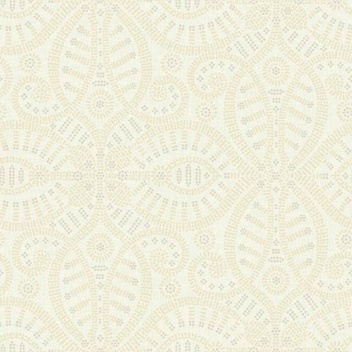 York Wallcoverings Waverly Global Chic Cream and Beige Belle of the Ball Wallpaper