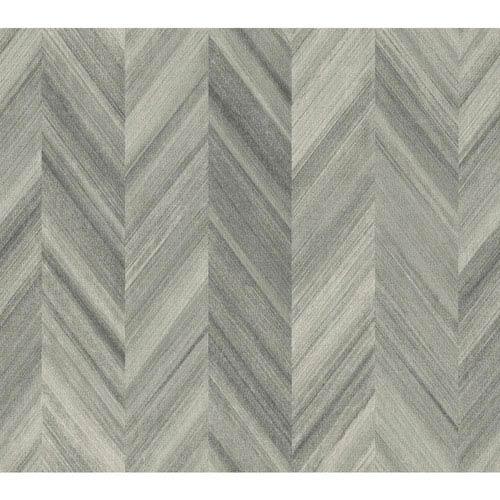 Ashford Geometrics Grey Gradient Chevron Wallpaper