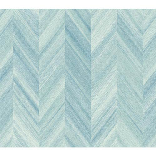 Ashford Geometrics Blue Gradient Chevron Wallpaper