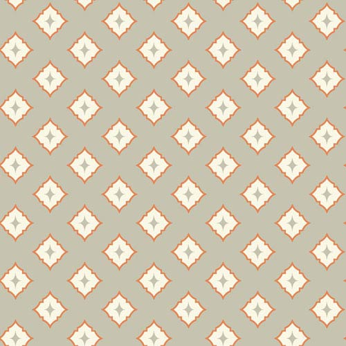 Ashford Geometrics Light Grey and Orange Moroccan Spot Wallpaper: Sample Swatch Only