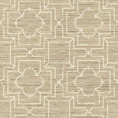 Ashford Geometrics Beige and Cream Irongate Trellis Wallpaper