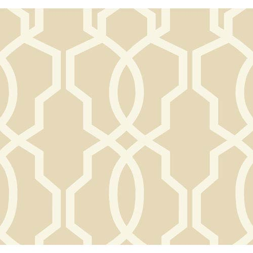Ashford Geometrics Beige and Cream Hourglass Trellis Wallpaper