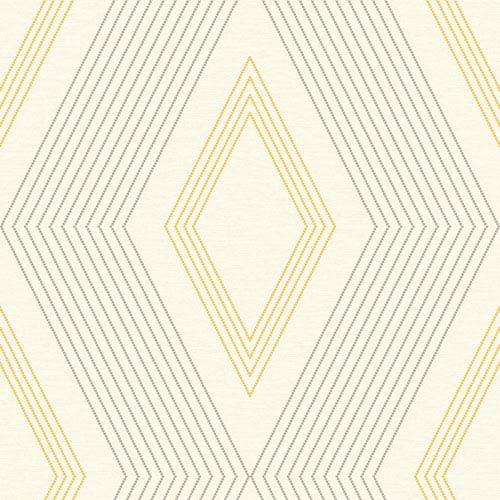Ashford Geometrics Cream and Yellow Aspen Wallpaper