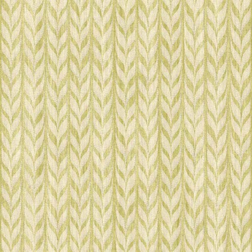 Ashford Geometrics Green and Cream Graphic Knit Wallpaper: Sample Swatch Only