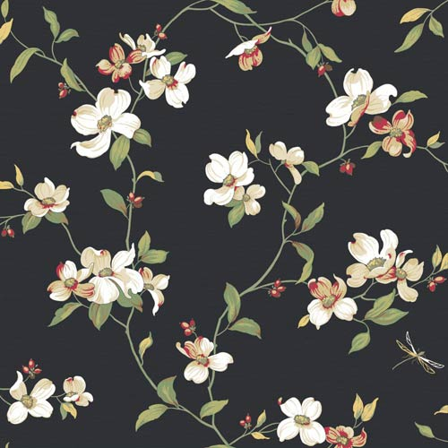 Inspired by Color Black Dogwood Wallpaper