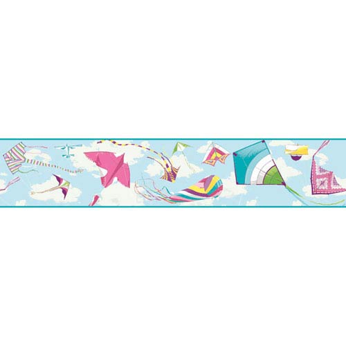 York Wallcoverings Growing Up Kids Color The Wind Removable Wallpaper Border- Sample Swatch Only