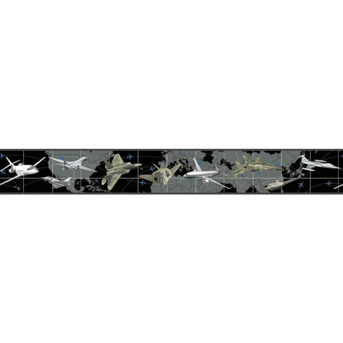 Growing Up Kids Leaving On A Jet Plane Removable Wallpaper Border- Sample Swatch Only