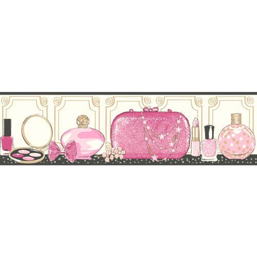 Growing Up Kids Glitz and Glam Removable Wallpaper Border