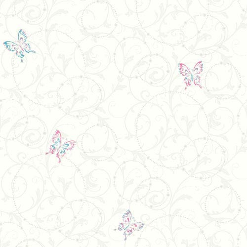 Growing Up Kids Scroll Removable Wallpaper- Sample Swatch Only
