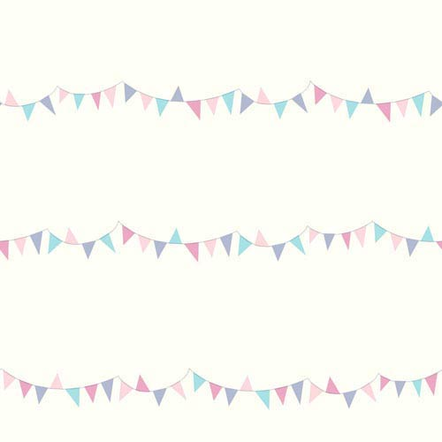 Growing Up Kids Big Top Pennants Removable Wallpaper- Sample Swatch Only