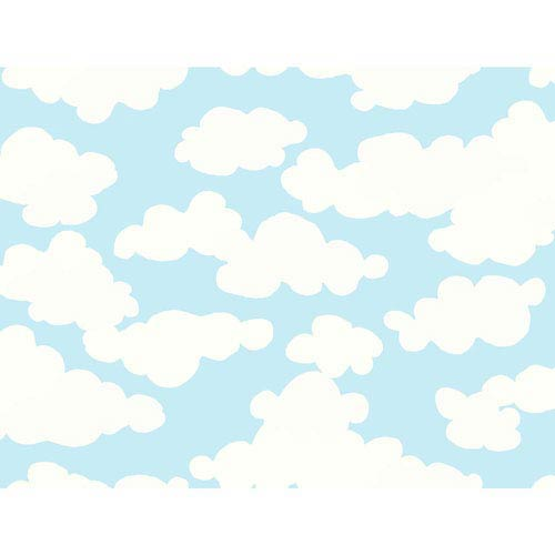 York Wallcoverings Growing Up Kids On Cloud Nine Removable Wallpaper- Sample Swatch Only