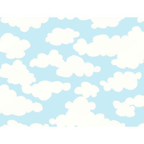 York Wallcoverings Growing Up Kids On Cloud Nine Removable Wallpaper