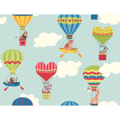 York Wallcoverings Growing Up Kids Take To The Air Removable Wallpaper- Sample Swatch Only