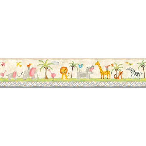 Growing Up Kids Jungle Boogie Removable Wallpaper Border- Sample Swatch Only
