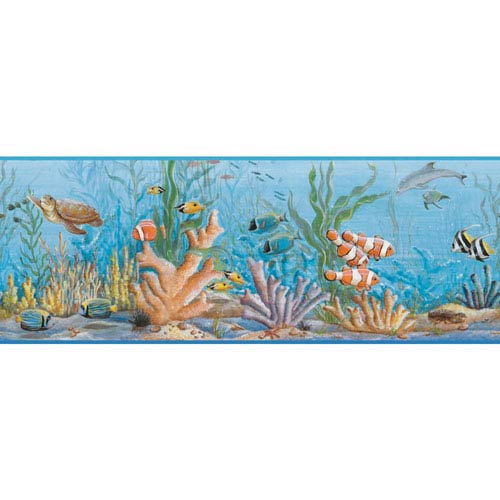 York Wallcoverings Growing Up Kids Honu Removable Wallpaper Border- Sample Swatch Only