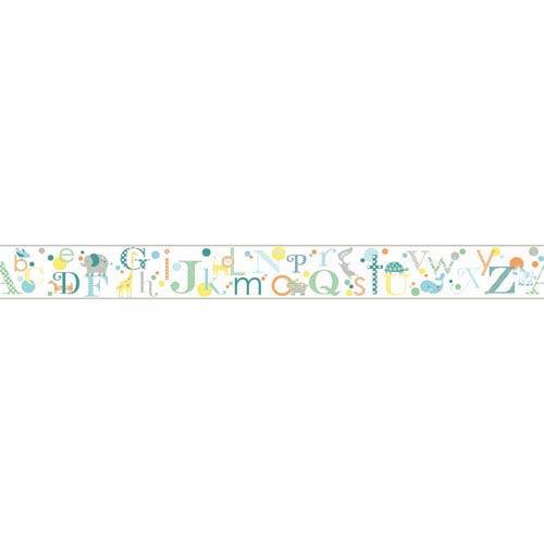 York Wallcoverings Growing Up Kids Alphabet Removable Wallpaper Border