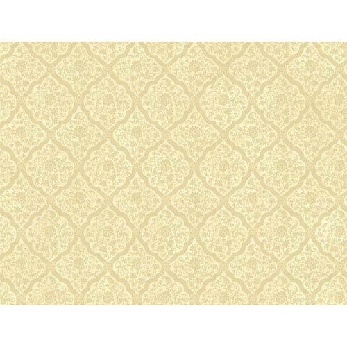 York Wallcoverings Brandywine Medallion Harlequin Wallpaper: Sample Swatch Only