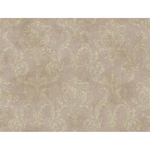 York Wallcoverings Brandywine Delia Damask Wallpaper