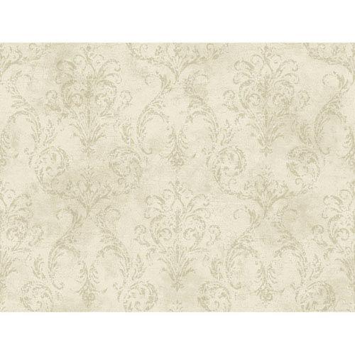 York Wallcoverings Brandywine Delia Damask Wallpaper