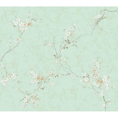 York Wallcoverings Brandywine Wisteria Vine Wallpaper: Sample Swatch Only