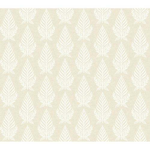 Brandywine Neoclassic Leaf Wallpaper: Sample Swatch Only