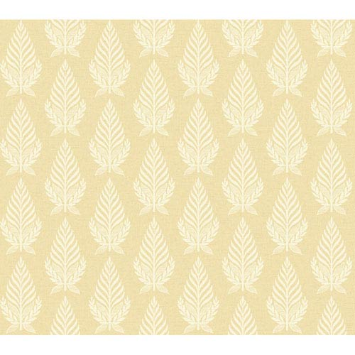 York Wallcoverings Brandywine Neoclassic Leaf Wallpaper: Sample Swatch Only