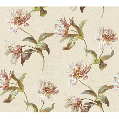 York Wallcoverings Brandywine Tulip Wallpaper: Sample Swatch Only