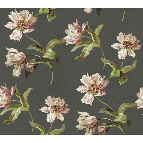 York Wallcoverings Brandywine Tulip Wallpaper: Sample Swatch Only