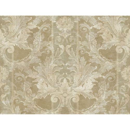 Brandywine Aida Damask Stripe Wallpaper