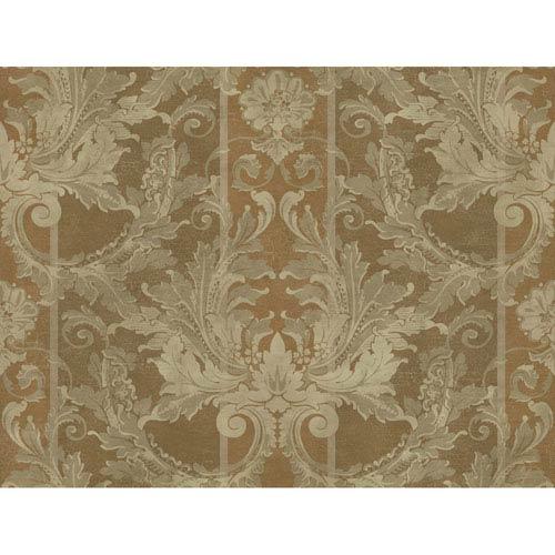 York Wallcoverings Brandywine Aida Damask Stripe Wallpaper