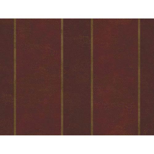 York Wallcoverings Brandywine Aida Damask Stripe Wallpaper: Sample Swatch Only