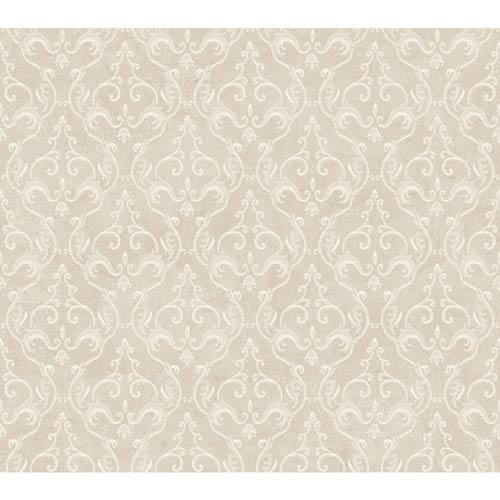 Inspired by Color Metallic Platinum and Winter White Wallpaper