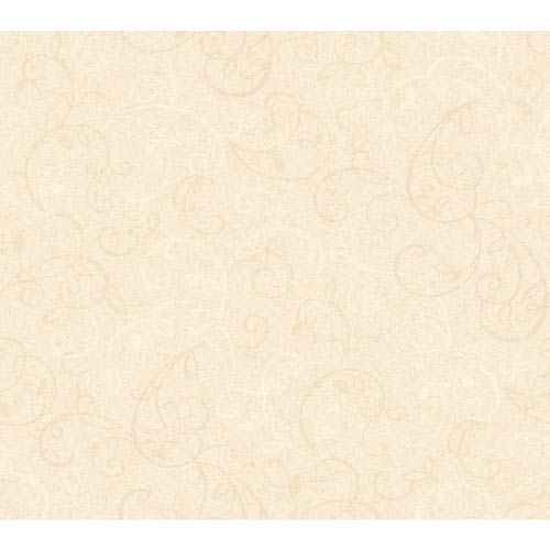 York Wallcoverings Inspired by Color Antique Ivory and Off White Wallpaper