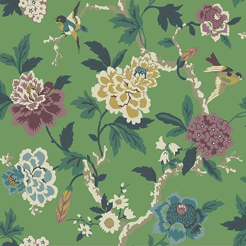 York Wallcoverings Waverly Garden Party Green Floral Wallpaper ...
