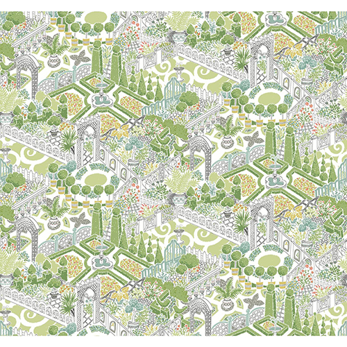 Waverly Garden Party Sherbet Wallpaper