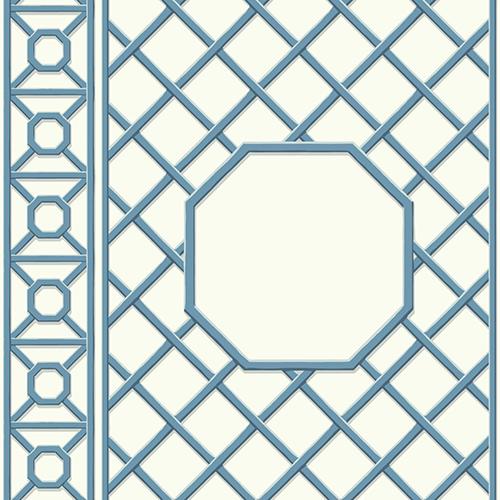 Waverly Garden Party Blue Wallpaper
