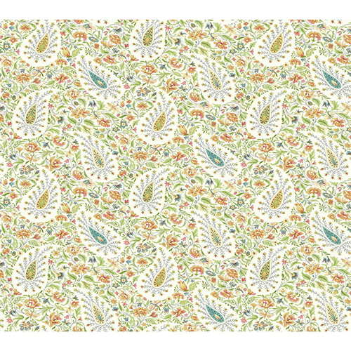 Waverly Garden Party Green Paisley Wallpaper