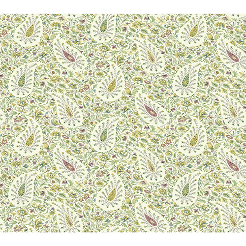 Waverly Garden Party Jewel Paisley Wallpaper