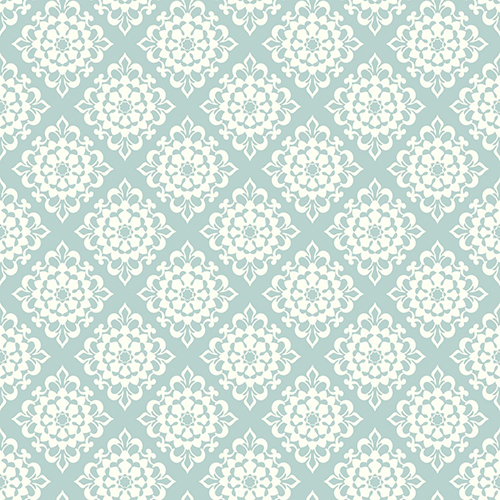 Waverly Garden Party Sky Blue Lotus Wallpaper - SAMPLE SWATCH ONLY