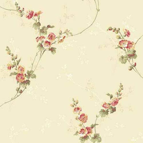 York Wallcoverings Keepsake Open Floral Wallpaper: Sample Swatch Only