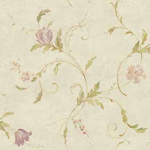 York Wallcoverings Keepsake Delicate Tulip Spray Wallpaper: Sample Swatch Only