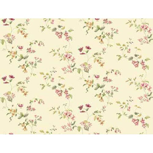 York Wallcoverings Keepsake Wild Flower Trail Wallpaper: Sample Swatch Only