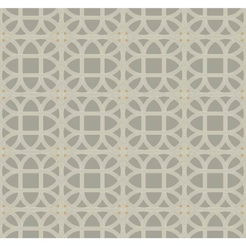 York Wallcoverings Williamsburg III Lamerie Lattice Black Removable Wallpaper-SAMPLE SWATCH ONLY