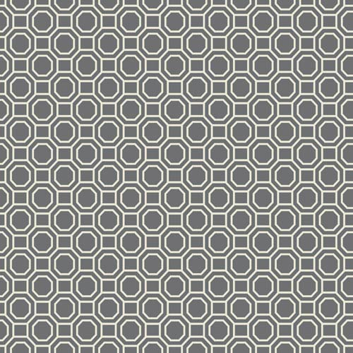 York Wallcoverings Williamsburg III Georgian Geo Black Removable Wallpaper-SAMPLE SWATCH ONLY