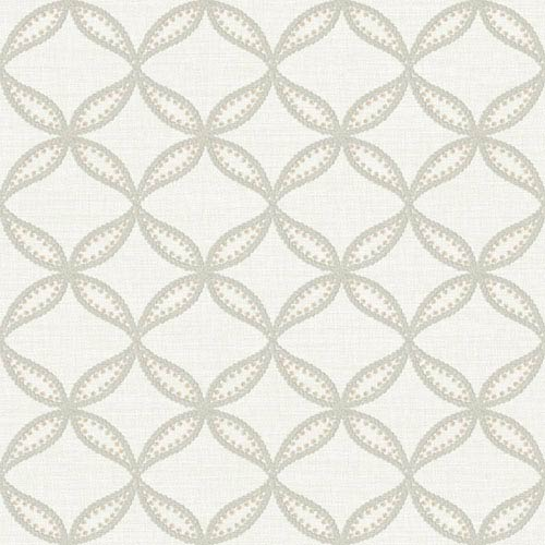York Wallcoverings Williamsburg III Tanjib Embroidery Beige Removable Wallpaper-SAMPLE SWATCH ONLY