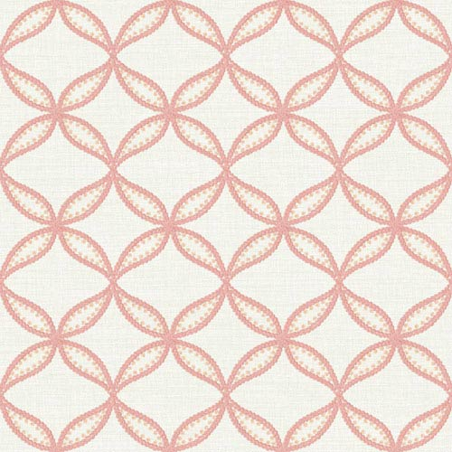 York Wallcoverings Williamsburg III Tanjib Embroidery Pink Removable Wallpaper-SAMPLE SWATCH ONLY