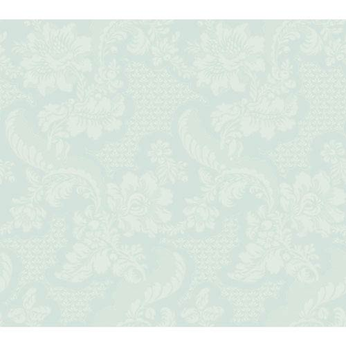York Wallcoverings Williamsburg III Tazewell Damask Green Removable Wallpaper-SAMPLE SWATCH ONLY