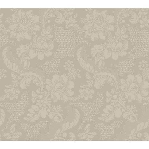 Williamsburg Iii Tazewell Damask Metallic Removable Wallpaper