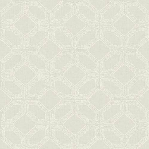York Wallcoverings Williamsburg III Barraud Embroidery White and Off White Removable Wallpaper-SAMPLE SWATCH ONLY