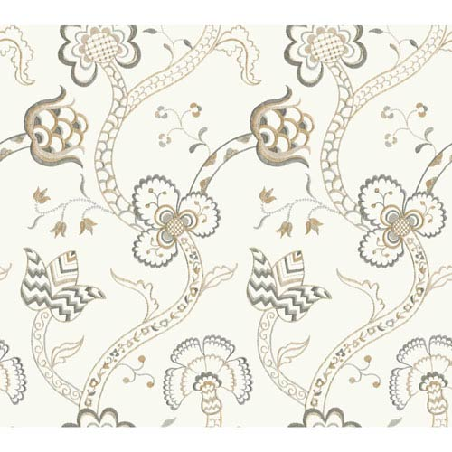 York Wallcoverings Williamsburg III Gainsborough Black Removable Wallpaper-SAMPLE SWATCH ONLY